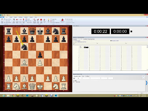 ChessBase 12 Practicing Openings Using Engines and Books