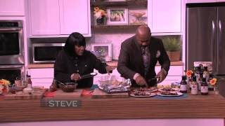 Steve Harvey cooks with Patti LaBelle