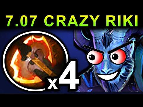 CRAZY 4x BATTLEFURY RIKI - DOTA 2 PATCH 7.07 NEW META PRO GAMEPLAY
