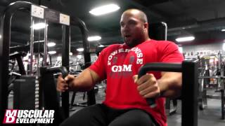 Jon Delarosa Chest Training 3/10/13