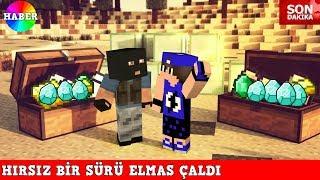 HIRSIZ VS POLİS #27 - Hırsız Bir Sürü Elmas Çaldı (Minecraft)