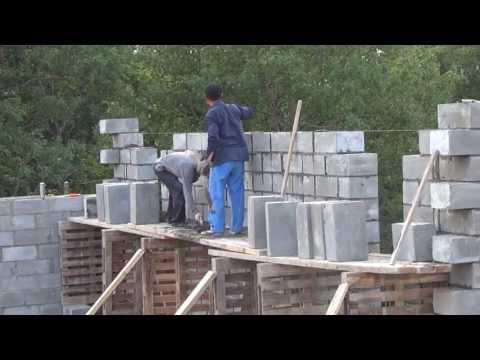Как построить из пеноблоков своими руками видео