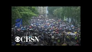 Hong Kong protests continue for 11th weekend as demonstrators demand democratic reform