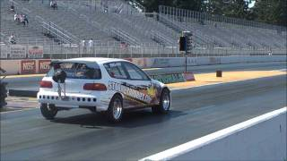 8.86@167mph 42psi Honda Civic,  4 speed shifting