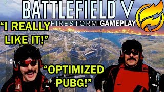 DrDisrespect's SURPRISED With How GOOD BATTLEFIELD V FIRESTORM Is! (First Gameplay + Timestamps)!