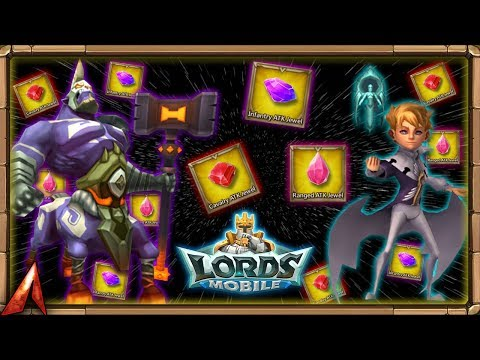Lords Mobile: It's Raining Jewels! Opening Jewel Pack!