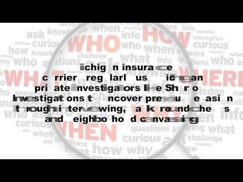 Auto Insurance Fraud in Michigan | ClaimsPI.com