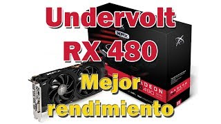 Undervolt RX 480, improve performance in your RX 480