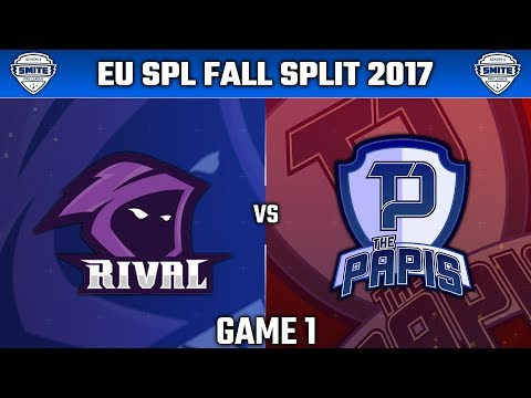 SMITE Pro League Fall Split Week 2 NA 2017 - Team Rival vs. The Papis (Game 1)