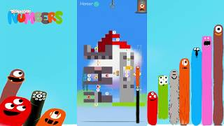 Fun Buildings Part1 Puzzles - DragonBox: Numbers (iPad, iPhone, Android). Fun game for kids.