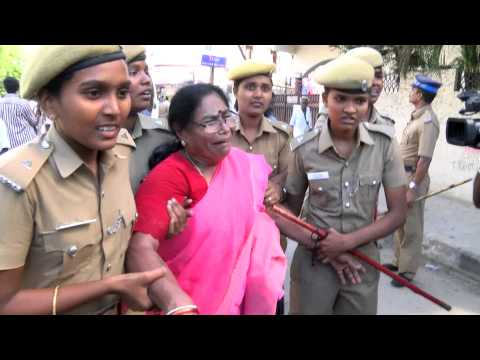 Jayalalitha Wealth Case Judgement  - AIADMK men Attacking Karunanidhi's house - RedPix24x7