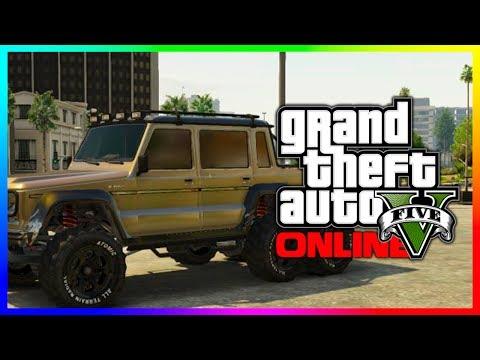 """GTA 5 NEW """"Dubsta 6x6"""" Hipster DLC Dubsta Car In GTA 5! Luxury Monster Truck! (GTA V)"""