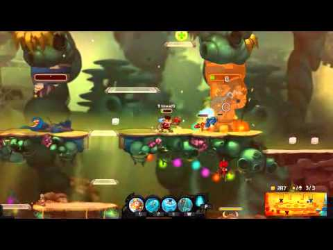 Froggy G (Brawler) Gameplay : Awesomenauts (2D Moba) Practice Match