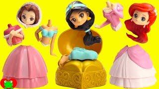 Disney Princess Belle, Jasmine, Ariel Surprise Capsules