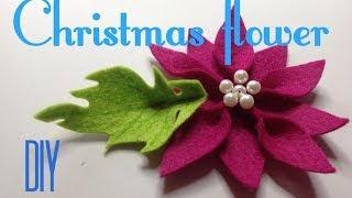 Рождественская звезда. Пуансетия. Фетр / Christmas star