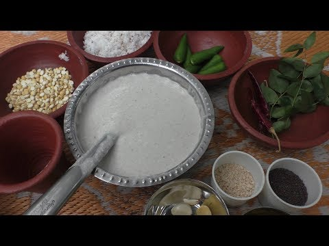 Cheru cholam dosa - coconut chutney Recipe in tamil / Cooking By Village food Recipes