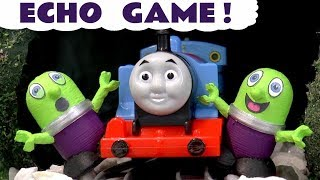 Funny Funlings Echo Tunnel Game with Toy Trains Thomas and Friends Kids Story