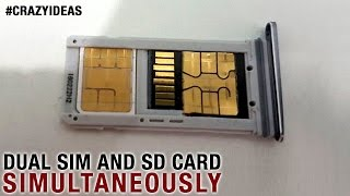 How to Make Dual Sim and Micro Sd Card work Simultaneously   Crazy Ideas   Life Hacks