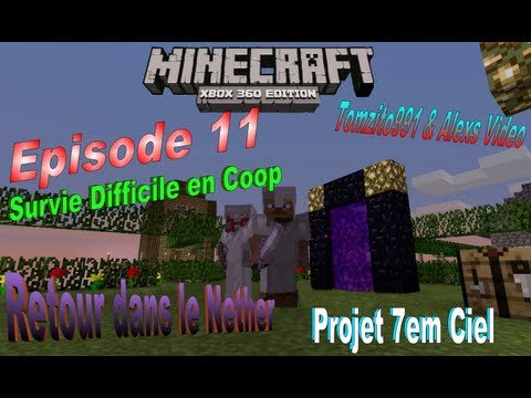Let's Play Minecraft Survie Difficile en Coop - Episode 11 Retour dans le Nether [HD][FR]