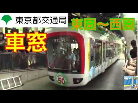 上野動物園モノレール車窓 東園~西園(JR東日本特急風汽笛付)