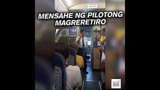 Viral: Pilotong magreretiro