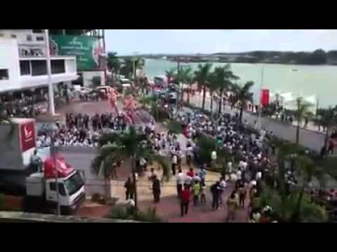 Manifestacion en Tuxpan por antorcha