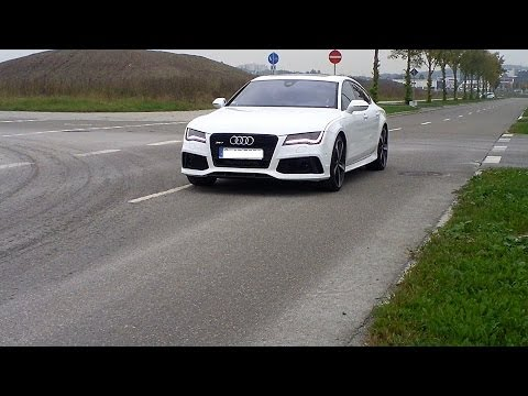 Audi RS7 Sportback Acceleration, Start up and Exhaust Sound & Drift
