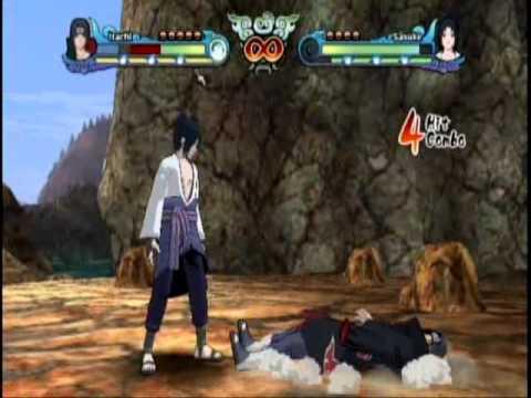 Naruto Shippuden Clash of Ninja Revolution 3 Itachi Uchiha vs Sasuke Uchiha