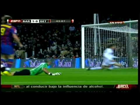 Barcelona 2-1 Getafe  [ 02-06-2010 ] liga BBVA LFP Jornada Fecha 21 HD Videos de Futbol