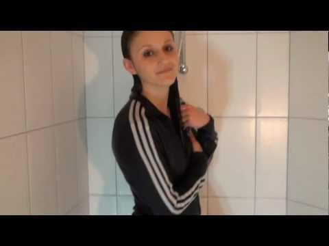 WetlookPlanet: Kayleigh in Adidas suit