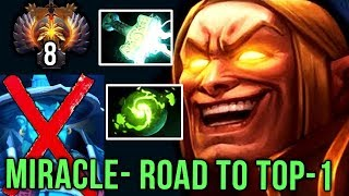 Miracle- Invoker Road to TOP-1 RANK with NEW META Build, Mjollnir + Refresher Orb - EPIC Dota 2