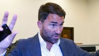 Anthony Joshua losing again = NOT MUCH FINANCIAL DIFFERENCE to Matchroom, says Eddie Hearn