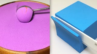 Very Satisfying and Relaxing Compilation 98 Kinetic Sand ASMR