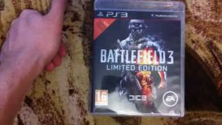 Распаковка Battlefield 3 Limited Edition на PS3