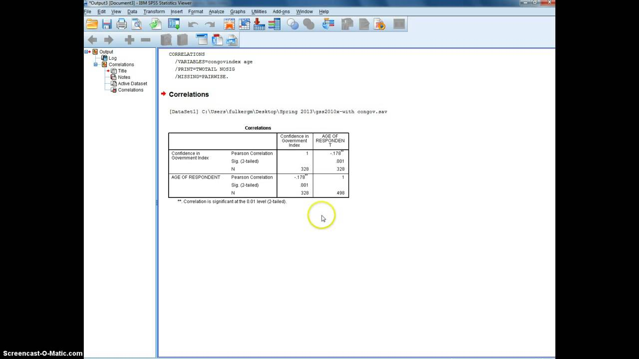 how to create a bivariate table spss