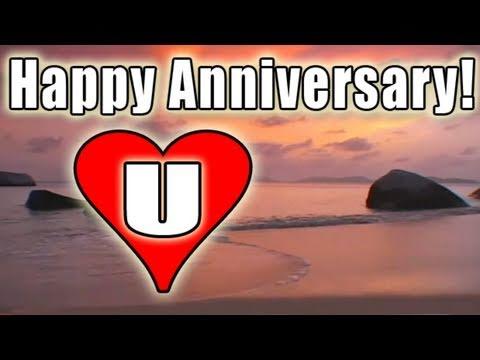 HAPPY ANNIVERSARY E-card video FREE BOLERO romantic LOVE song music / LOVE U E-Cards HD