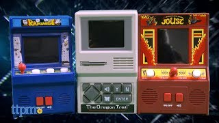 Arcade Classics Rampage, The Oregon Trail, and Joust from Basic Fun