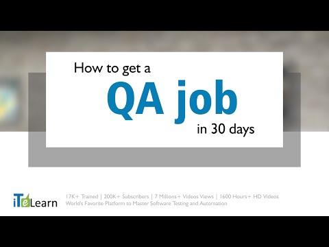 Get a QA/Software Testing job in 30 days. FREE Webinar by Karthik ITeLearn
