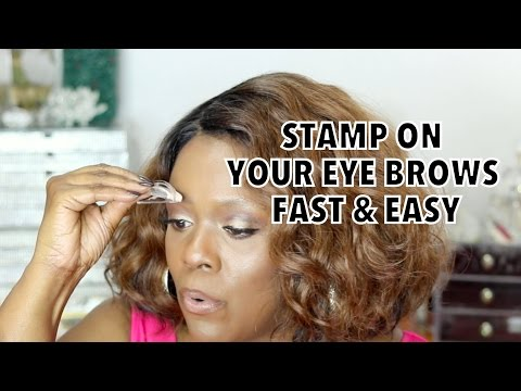 OMG! STAMP YOUR EYE BROWS ON FAST & EASY  😱