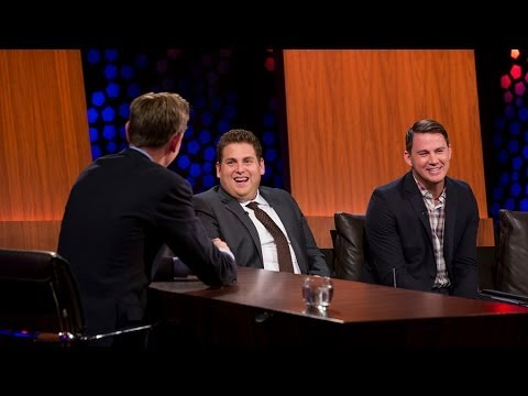 Jonah Hill and a sockless Channing Tatum have a little fun with Ryan Tubridy | The Late Late Sho