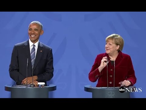 Obama, Angela Merkel FULL Press Conference