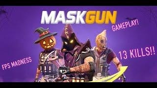 MaskGun Gameplay | 13 Kills | iOS/Android Game