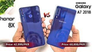Samsung Galaxy A7 2018 vs Honor 8X Speed Test & Quick Camera Compaison [Urdu/Hindi]