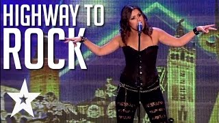 Spanish Opera Singer Rocks The Crowd With ACDC Cover | Got Talent Global