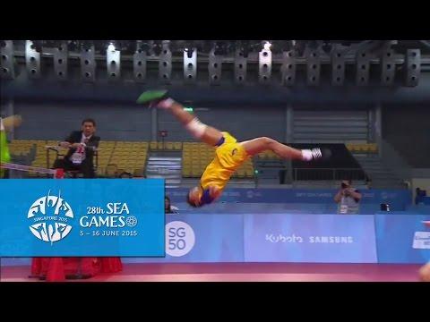 Sepak Takraw Team Mens Doubles MYA vs THA (1st Regu/Match) | 28th Sea Games Singapore 2015