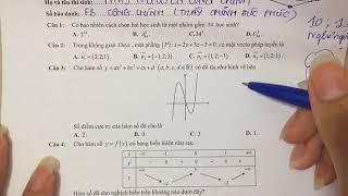 Thầy Nguyễn Công Chính hướng dẫn chữa đề THPTQG Toán 2018 Mã đề 101 P1