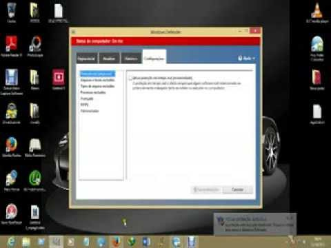 como desativar o antivirus no windows 8