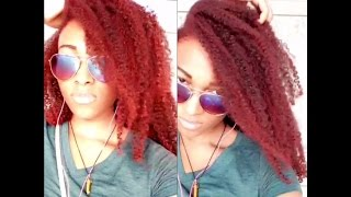 REVIEW | Jerome Russell B Wild Temporary Hair Color - Cougar Red On Natural Hair