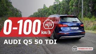 2019 Audi Q5 50 TDI 0-100km/h & engine sound