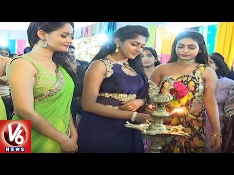 National Silk Expo 2018 Begins At Satya Sai Nigamam In Hyderabad | V6 News